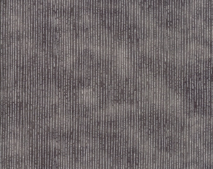 Moda Blushing Peonies Charcoal Grey Gray Squiggle Line Background Fabric BTHY 48615-19