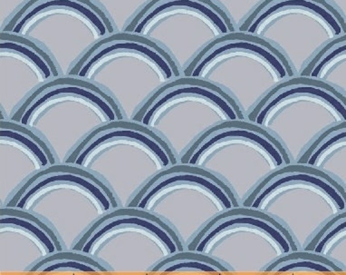 Windham Heather Givans Literary Gatsby Gray Grey Blue Navy Fabric 42707-12 BTY