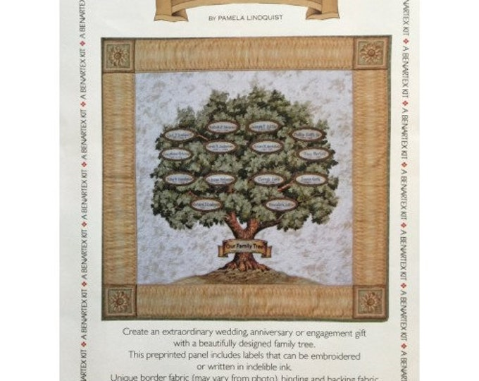 Benartex Our Family Tree Family Heirloom History OOP Quilt Project Kit 29 x 29