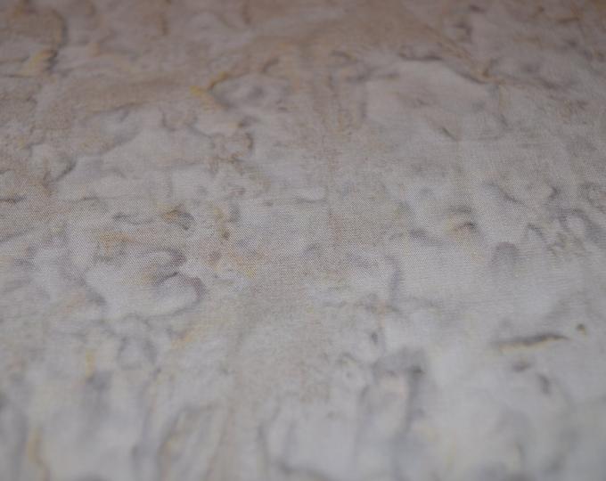 Java Galaxy Rain Solid Batik Fabric GALJAB-0529 Grey Gray Tan Taupe  BTY