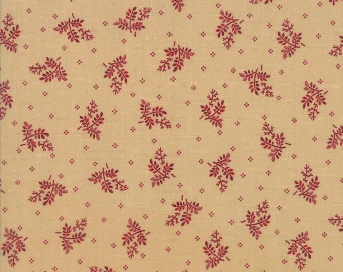 Moda Liberty Gatherings Cream Tan with Red Wheat Civil War Fabric 1202-18 BTY
