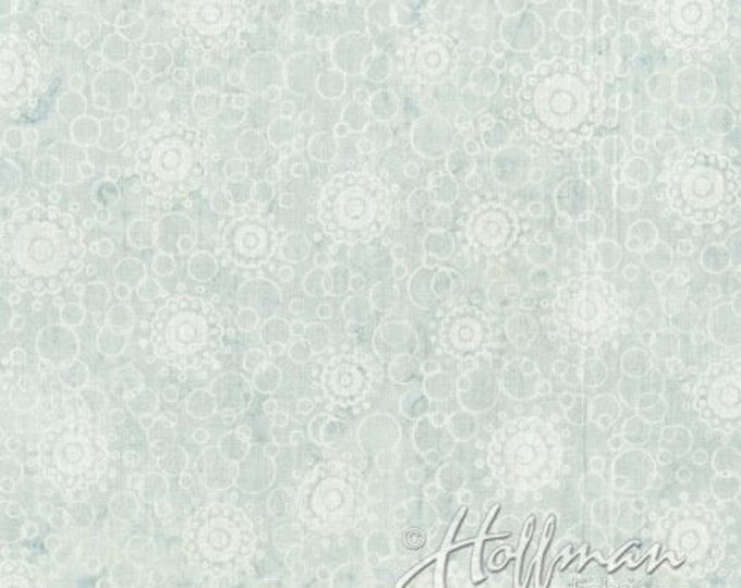 Hoffman Shave Ice Silver Grey Gray White Batik Fabric P2030-477 BTY