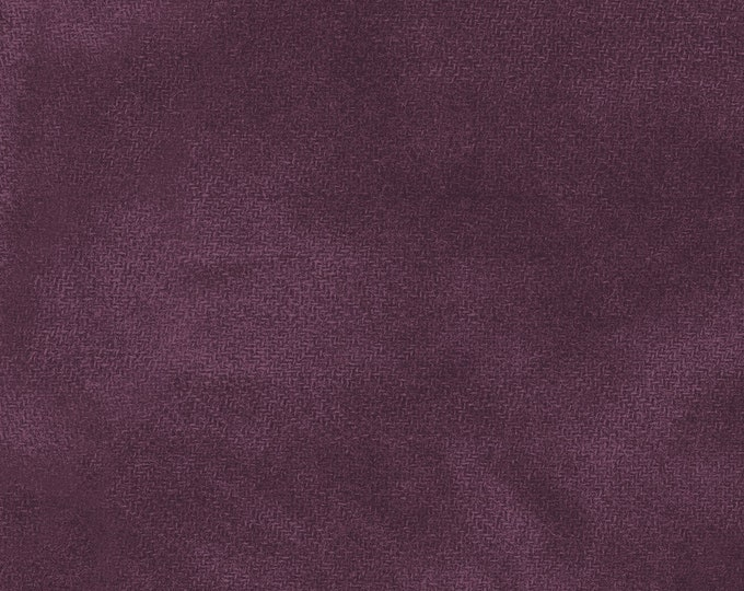 Maywood WOOLIES Color Wash Flannel Fabric Eggplant Purple Violet 9200-V BTHY