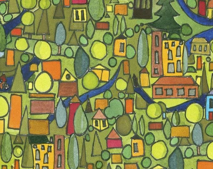 Maywood Fabric MASD9201-G Quiltlandia Designer: Kathleen Deggendorfer Quiltlandia Residential BTY
