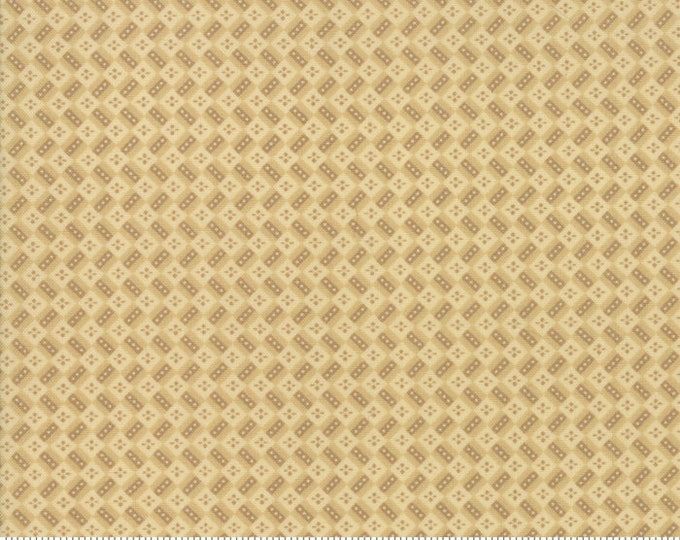 Moda Susannas Scraps Betsy Chutchian Beige Cream Tan Brown Rectangle Dot Civil War Fabric BTY 31584-11