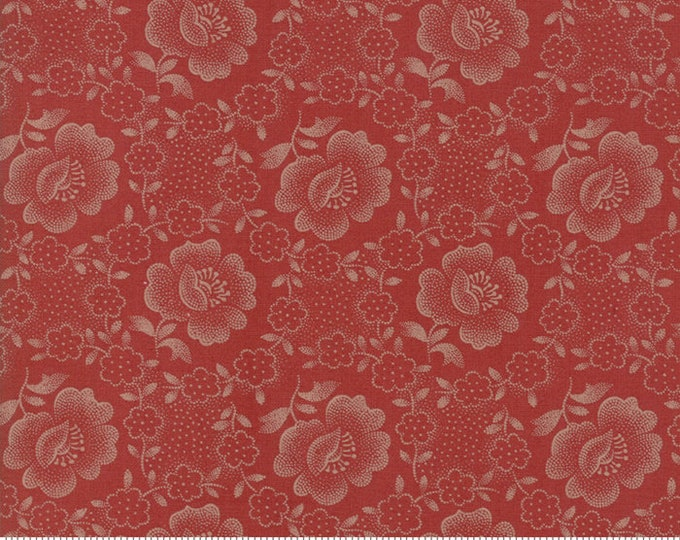 Moda Jos Shirtings by Jo Morton Brick Red Floral Civil War Reproduction Fabric 38040-18 BTHY