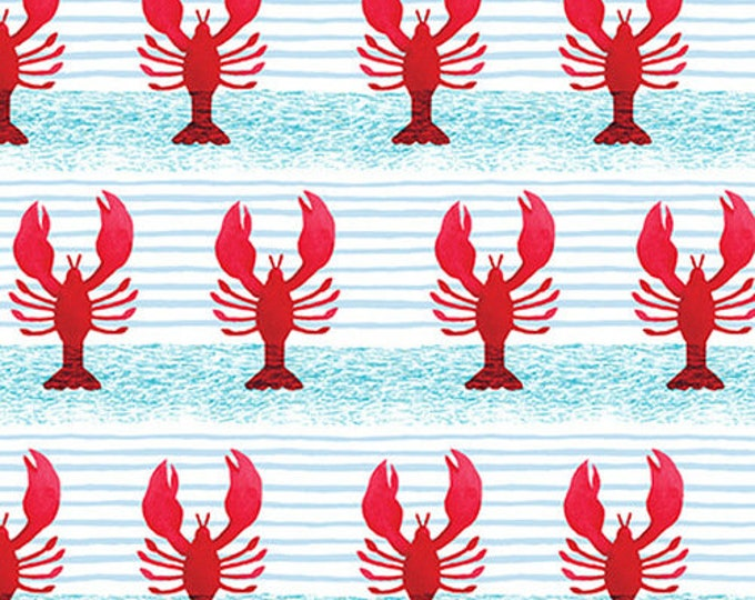 Blank Quilting 1155-88 Red Pop Studios Lobsters  HARBORDAYS Fabric BTY