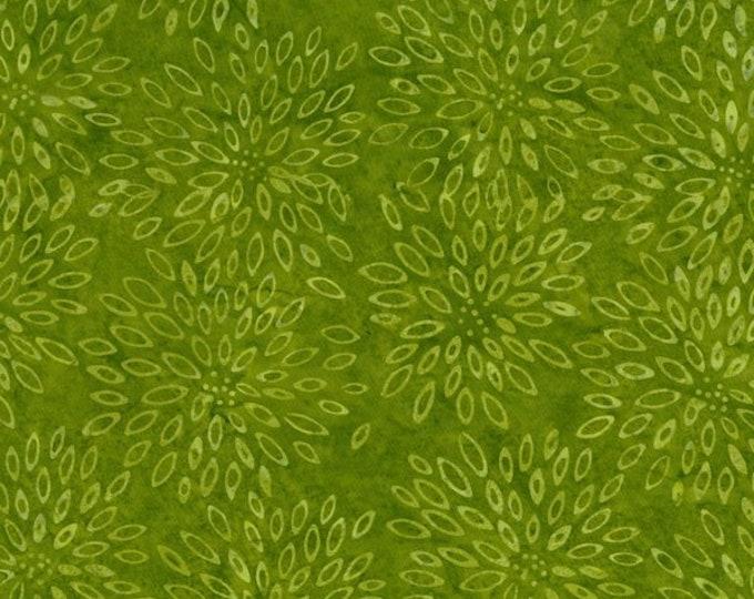 RJR Jinny Beyer Malam Batik Green Emerald Floral Petal Flower Batik 2548-003 Fabric BTY