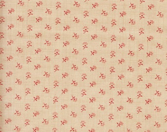 Moda French General Favorites Beige Cream with Red Floral Flower Fabric 13526-16 BTHY