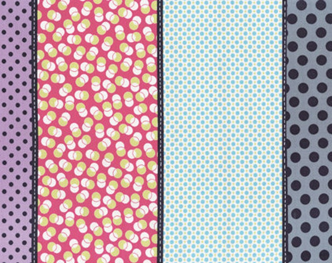 Moda Jen Kingwell Lollies Specks Snapdragon Stripe 18100-12 Multi Fabric BTY