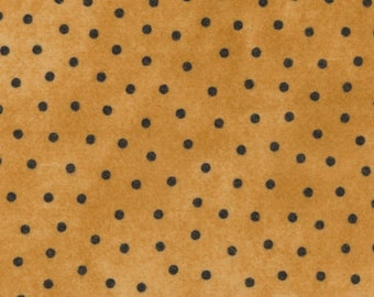 Maywood Woolies Gold with Black Polka Dot FLANNEL 18506-S Fabric BTHY