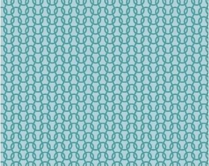 Windham Fabrics Uppercase by Janine Vangool cotton Knitted in Turquoise  swirls  41821-1 BTY