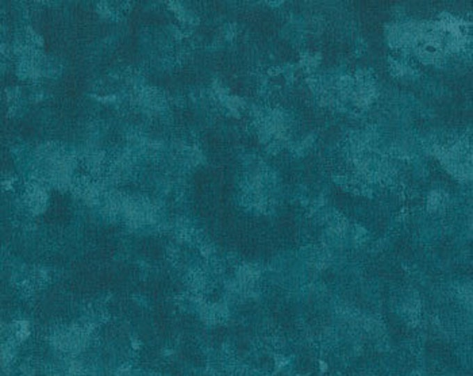 Moda Marble Marbles Teal Turquoise Mottled Background Fabric 9875 BTY