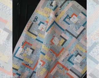 Beyond the Reef Post and Beam Quilt Modern Pattern Natalie Barnes