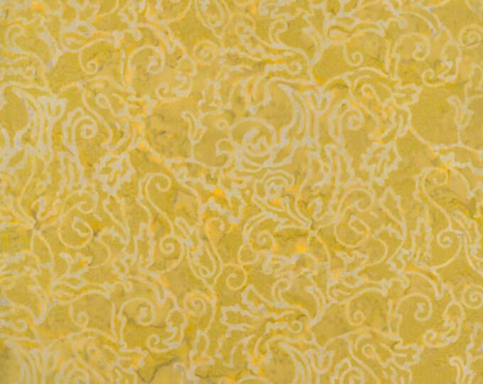 RJR Malam Jinny Beyer Batik Fabric Yellow Mustard Gray Floral 1767-004 BTY