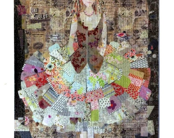 The Dress- A Collage Quilt Pattern w/ Applique by Laura Heine for Fiberworks