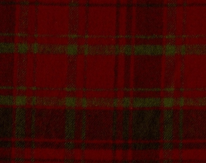 Marcus Primo Plaids Flannel Christmas IV Green Red Plaid Fabric J310-0123 BTY