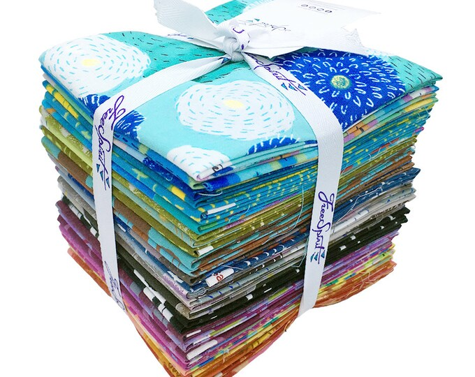 Free Spirit How Do You Do Keiko Goke Pink Blue Green Purple Fabric 28 Fat Quarters FQ Bundle