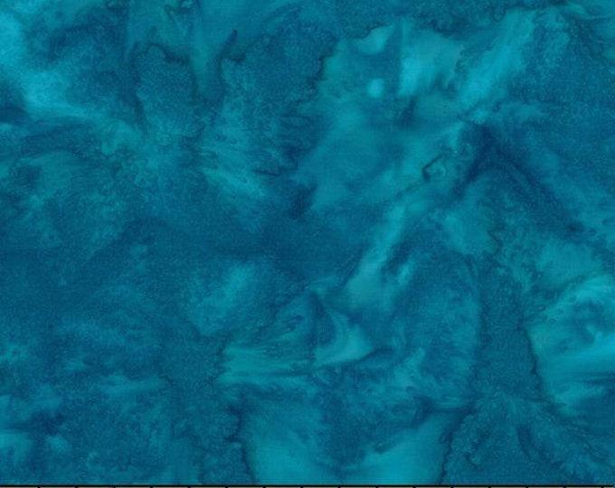 Hoffman 1895 Watercolors Solid Batik Fabric 1895-341 Wade Teal Blue BTY