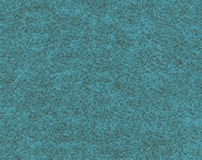 Kaufman Shetland Flannel Turquoise Teal Blue Fabric 13937-18  BTY