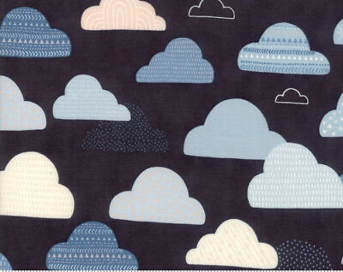 Moda Fabric Wild Free Abi Hall 35313-12 Midnight Cloud Quilt quilting Fabric  BTY