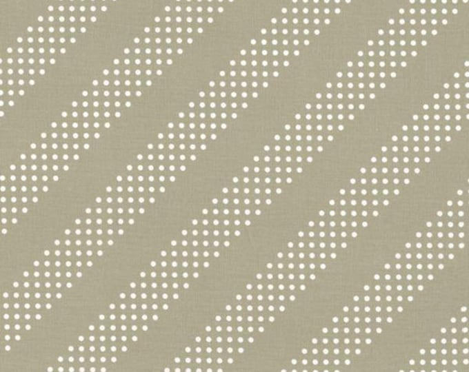 Cotton and Steel Basic Putty Grey Tan Diagonal Dots Modern Fabric BTY