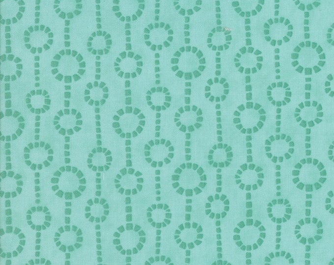 Moda Grand Canal Kate Spain Fontane Cypress Green Mint Teal Tonal Chain Fabric 27256-23 BTY