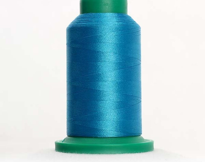 ISACORD Polyester Embroidery Thread Color 4010 Caribbean Blue 1000m