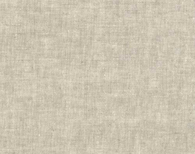 Kaufman Essex Yarn Dyed Homespun Cotton Linen Blend Canvas Flax Tan Beige Fabric E114-1143 BTY