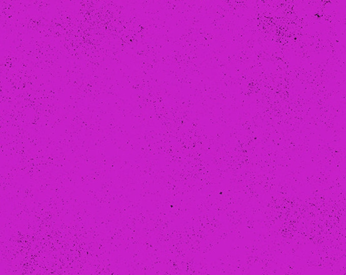 Andover Spectrastatic Giucy Giuce FRESH AMETHYST Magenta Orchid Purple Black Speckle Static Dot Fabric BTY 9248-P1