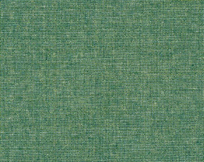 Kaufman Essex Yarn Dyed Metallic 50 Linen 40 Cotton 10 Lurex Linen Blend Canvas EMERALD Green E105-1135 Fabric BTY