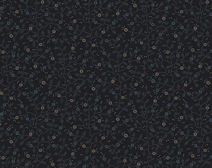 Henry Glass Blush and Blue Kim Diehil 1965 77 blue little leaves  Quilt quilting Fabric Cotton BTY