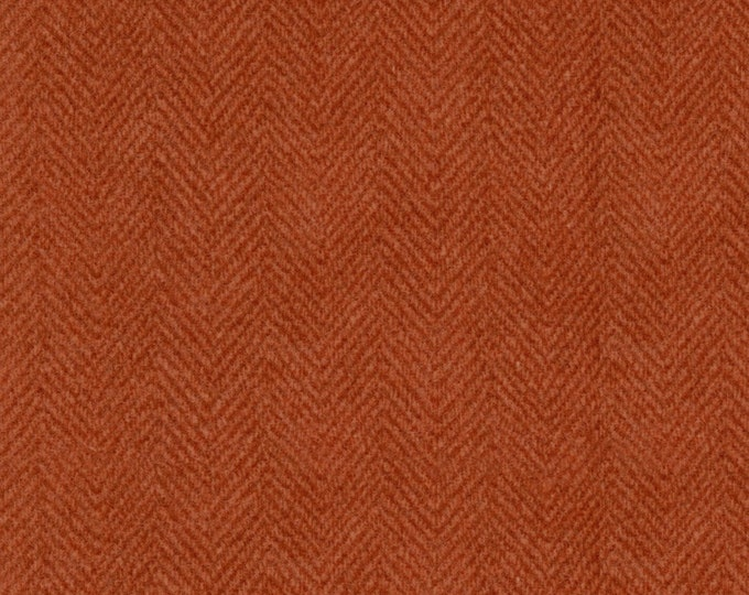 Maywood Woolies Rust Red Orange Herringbone 1841-M Flannel Fabric BTY
