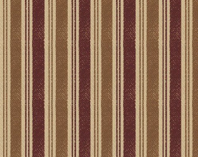 Windham Basics 27688 Cotton Fabric Red With Stripes BTY