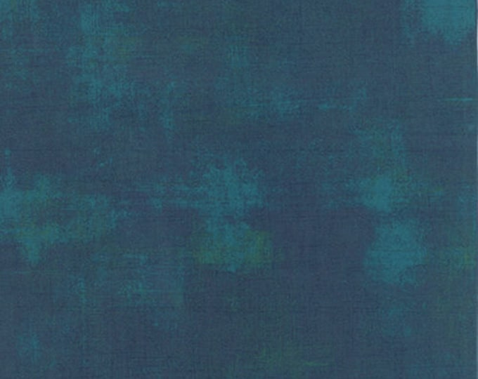 Moda Basic Grey Grunge PEACOCK Teal Blue Green Purple 30150-230 Fabric BTY