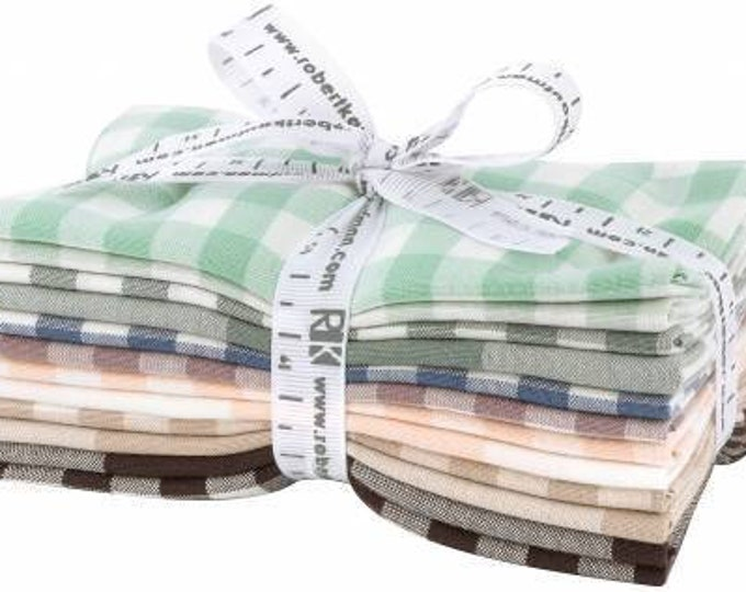 Kaufman Elizabeth Hartman Arctic Coordinates Kitchen Window Wovens 12 Fat Eighth Fabric Bundle