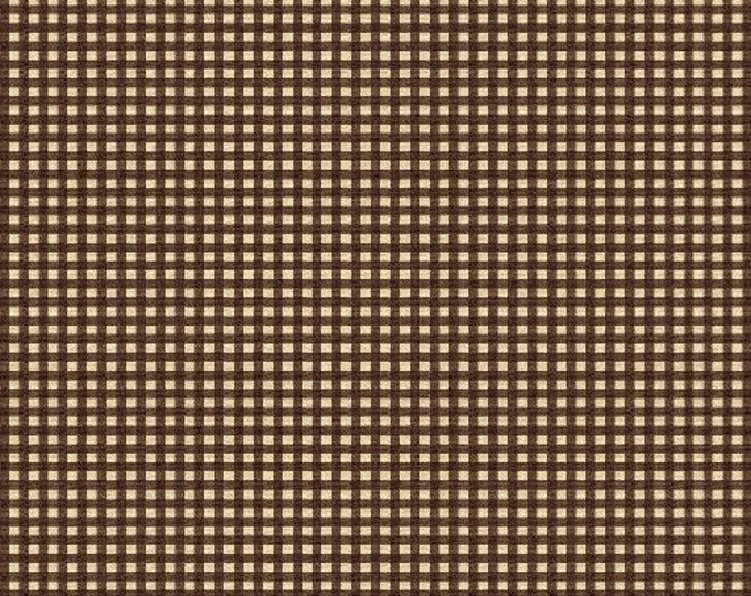 Windham Fabrics Basics Squares Brown Background with tan square  cotton 27684-4  BTY