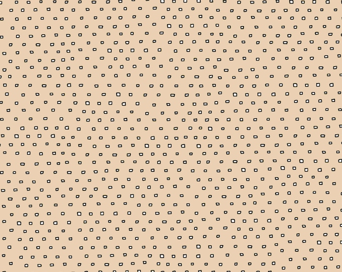 Quilting Treasures QT Ink and Arrow Black Pixie Dots on Cream Tan Fabric BTY 24299-AE