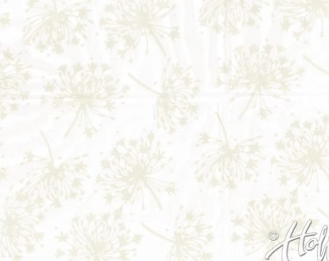 Hoffman Agapanthus Oyster Pearl Batik Fabric Cream Beige P2963-265 BTY