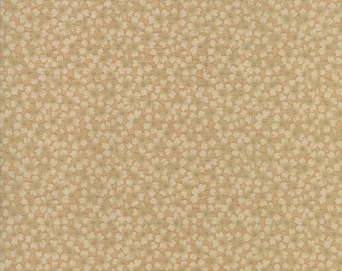 Moda Thistle Farm Kansas Troubles Beige Tan Floral Civil War Cotton 108 WIDE Fabric 3 yard cut 11123-11
