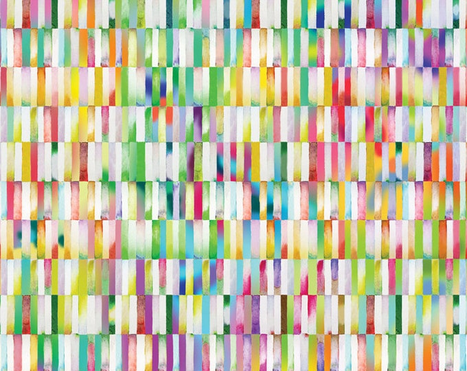 Moda Gradients Basics Rainbow Multi Color Strip Rectangle Fabric BTY 33367-11D