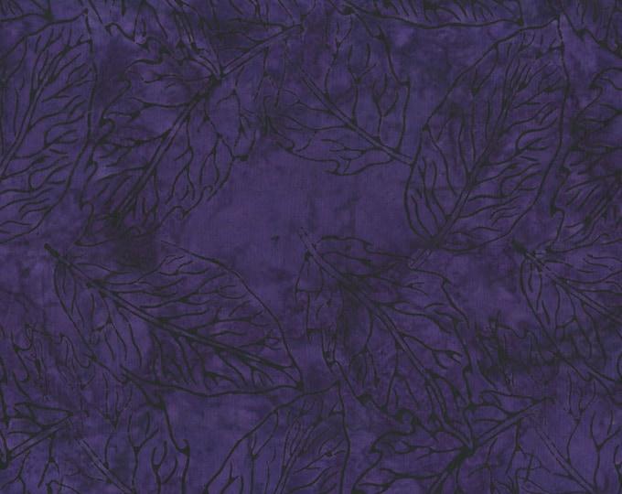 RJR Malam Jinny Beyer Batik Fabric Dark Purple Violet Grape Leaf 2145-011 BTY