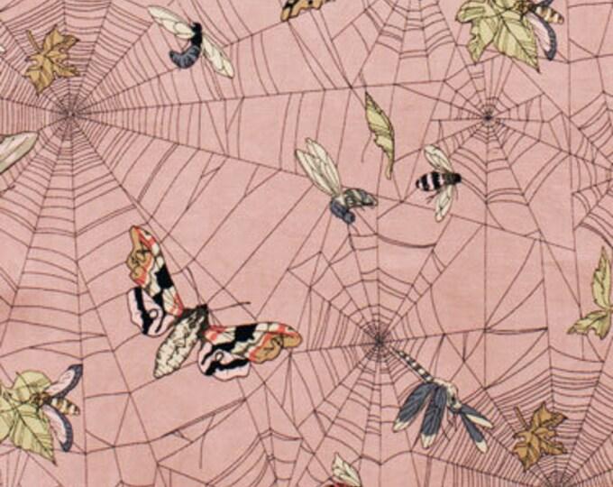 Alexander Henry The Ghastlies A Ghastlie Web Pink Bugs 7835-DR Floral Fabric BTY