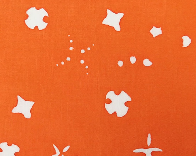 NEW Andover by Alison Glass Chroma Sun Prints 8133-O2 Carrot Orange Scatter Batik Fabric BTY