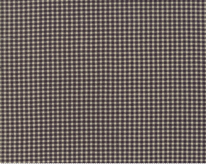 Moda Evelyn's Homestead Betsy Chutchian Black Grey Gray Tiny Check Reproduction Civil War Fabric BTY 31565-11