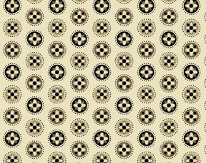 Benartex Fabric Palm Court Mini Medallion Ecru  by Michele D'Amore  Cotton 03422-72   BTY