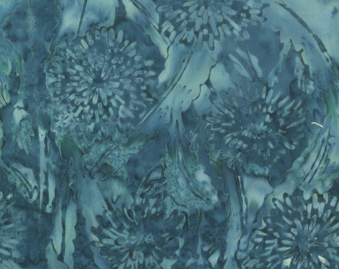 Anthology Art Inspired Batik John Williams Waterhouse Soul of the Rose Floral Blue Teal Fabric 231Q-1 BTY