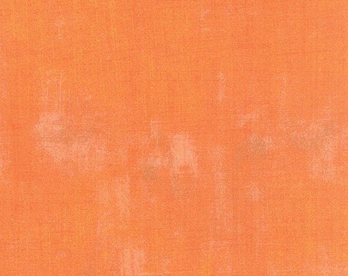 Moda Grunge Basics CLEMENTINE Orange Modern Mottled Background Fabric 30150-284 BTY