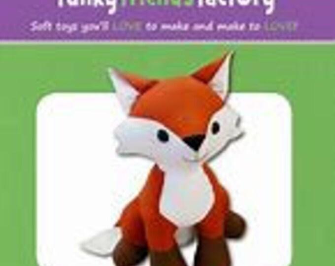"""FIFI FOX 4875 Stuffed Toy Sewing Pattern 12""""/31cm- Funky Friends Factory"""