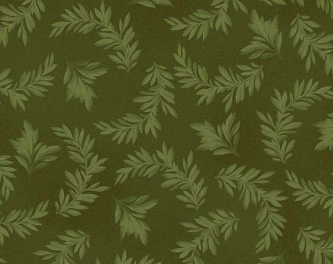 Maywood Fabric MAS9325-G A Fruitful Life Tonal Leaves BTY